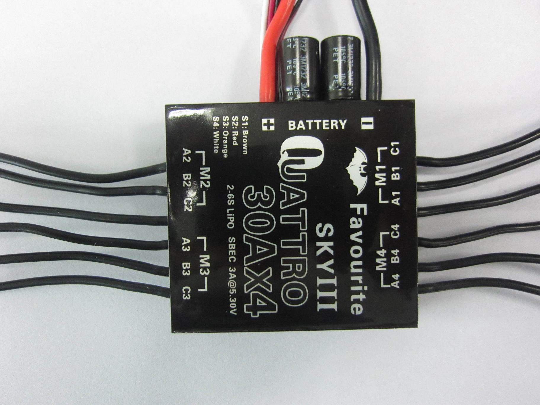 4-in-1 Multirotor ESC 30A x 4 2S-6S Free Shipping by DHL\FEDEX
